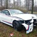 Alpine White BMW M4 Car Crash