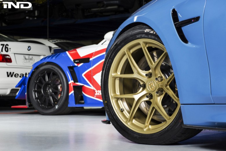 BMW M4 Sitting on with HRE R101 Wheels, Installation by IND Distribution