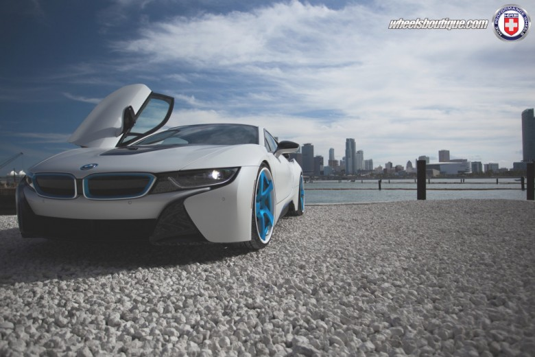 BMW i8 Riding on HRE Wheels, Installation by Wheels Boutique