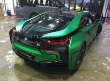 Matte Green Chrome BMW i8 by Impressive Wrap Hong Kong