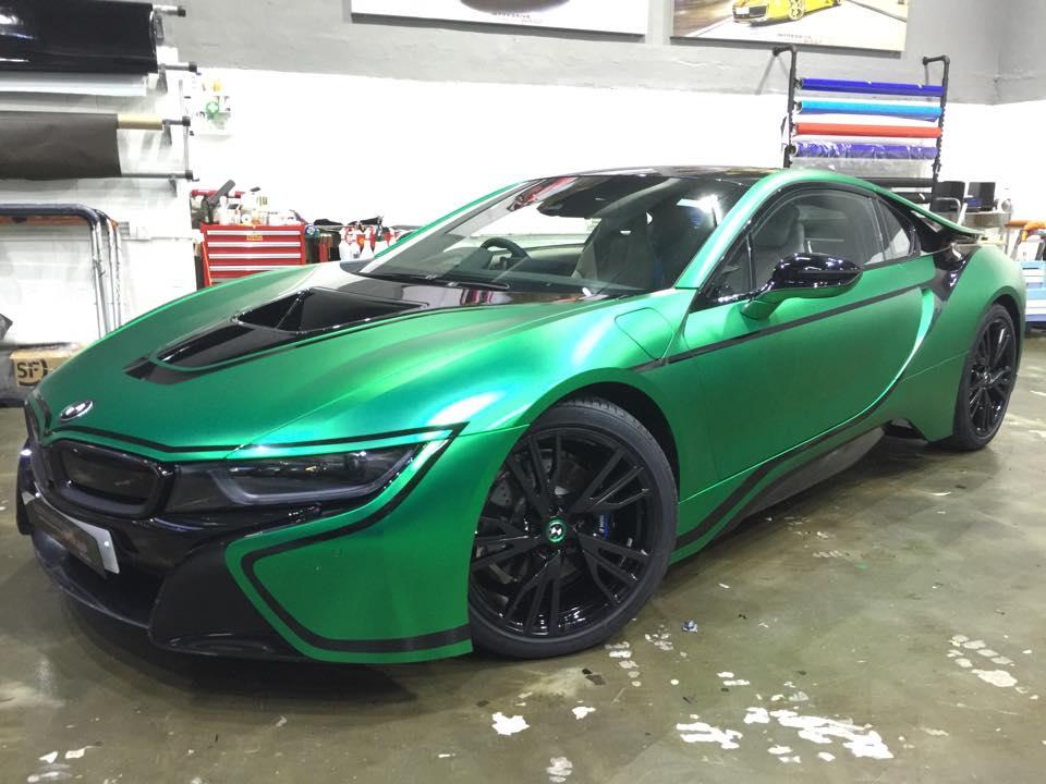 Matte Green Chrome Bmw I8 By Impressive Wrap Hong Kong Bmwcoop