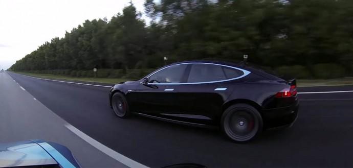 Bmw I8 Vs Tesla Model S P85d In Drag Race Bmwcoop