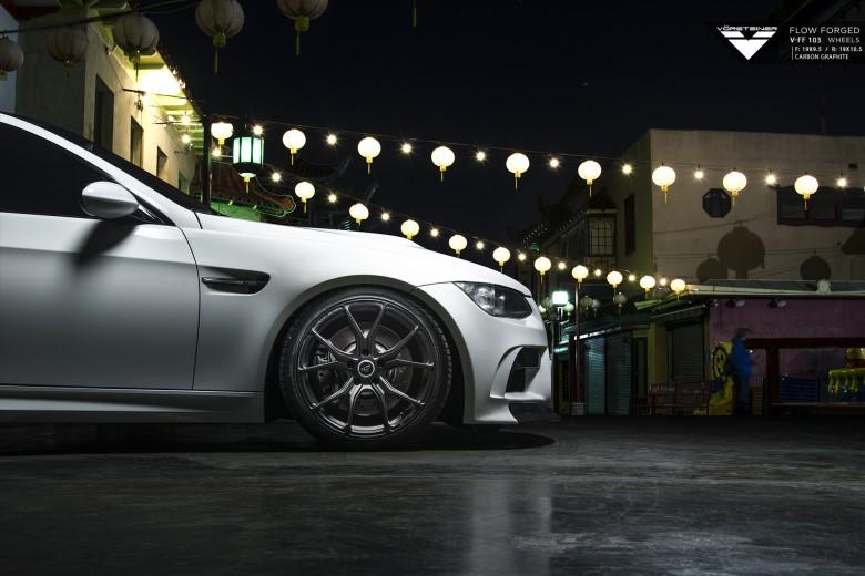 E92 BMW M3 Sits on Vorsteiner`s Carbon Graphite V-FF 103 Wheels