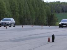 F10 BMW M5 vs. Audi RS6 Avant in Drag Race