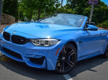 Yas Marina Blue BMW M4 Convertible Pops-Up in Kansas City, US