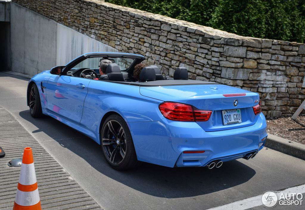 Yas Marina Blue Bmw M4 Convertible Pops Up In Kansas City