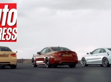 E84 BMW M4 vs. E92 BMW M3 vs. Audi RS5 in Drag Race