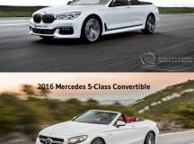 2016 BMW 7 Series Convertible vs. 2016 Mercedes S-Class Cabriolet