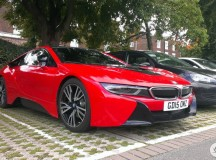 Red BMW i8 Photo Session in UK