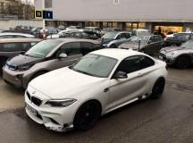 2016 BMW M2 with M Performance Parts Spy Shots  (1)