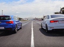 Video: BMW M135i vs. Audi S3 Sedan in Drag Race