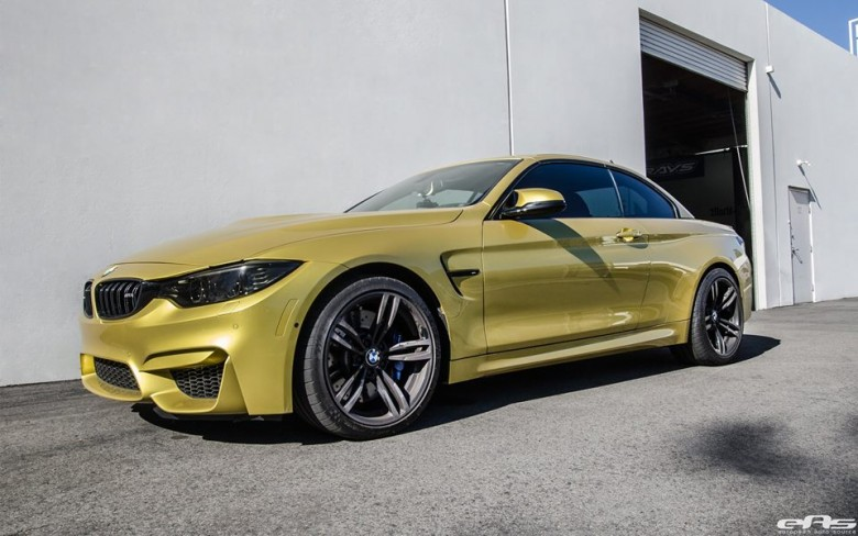 Austin Yellow BMW M4 Convertible by EAS