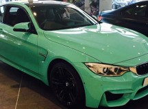 Individual Mint Green F82 BMW M4 Pops-Up in BMW Dealership