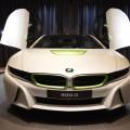 White and Java Green BMW i8 at BMW Abu Dhabi (8)