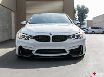Alpine White F82 BMW M4 Stands-Out with BBS Wheels, Installation by Supreme Power