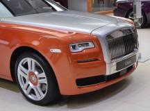 Behold the Rolls-Royce Ghost in Orange Metallic Body Wrap