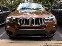 2017 F25 BMW X3 Spied in Chestnut Bronze Metallic Body Wrap