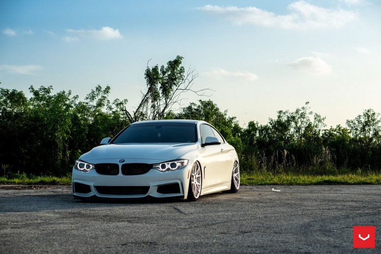 Alpine White BMW 435i Coupe with M Sport Package Receives Insane Bagging Treatment
