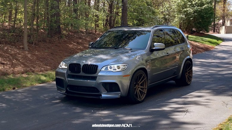 BMW X5 M Wrapped in ADV.1 Wheels, Installation by Wheels Boutique