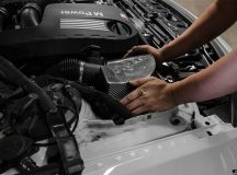 Alpine White BMW M4 Convertible by EAS Gets New Cold Air Intake