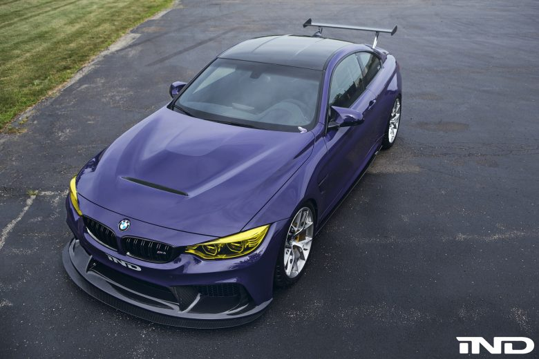 One-Off F82 BMW M4 Wraps Ultraviolet Purple by iND Distribution