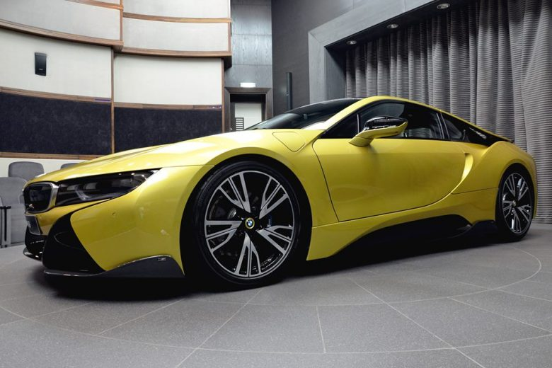 Austin Yellow BMW i8 by AC Schnitzer Pops-Up at BMW Abu Dhabi Dealership