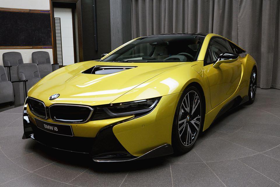 Austin Yellow Bmw I8 By Ac Schnitzer Pops Up At Bmw Abu Dhabi