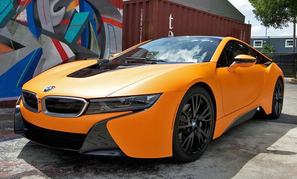 Metro Wrapz Add Special Matte Orange To This Good Looking Bmw I8
