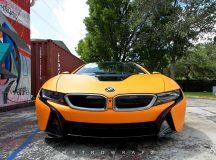 Metro Wrapz Add Special Matte Orange to This Good-Looking BMW i8