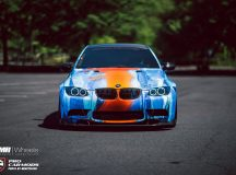 "E92 BMW M3 with ""Fire & Water"" Body Wrap, Installation by Diaz Plus"