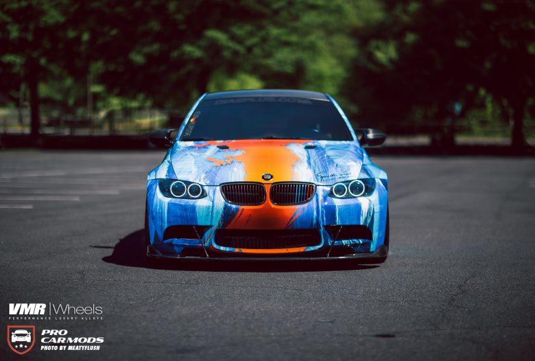 E92 BMW M3 With U201cFire U0026 Wateru201d Body Wrap, Installation By Diaz Plus