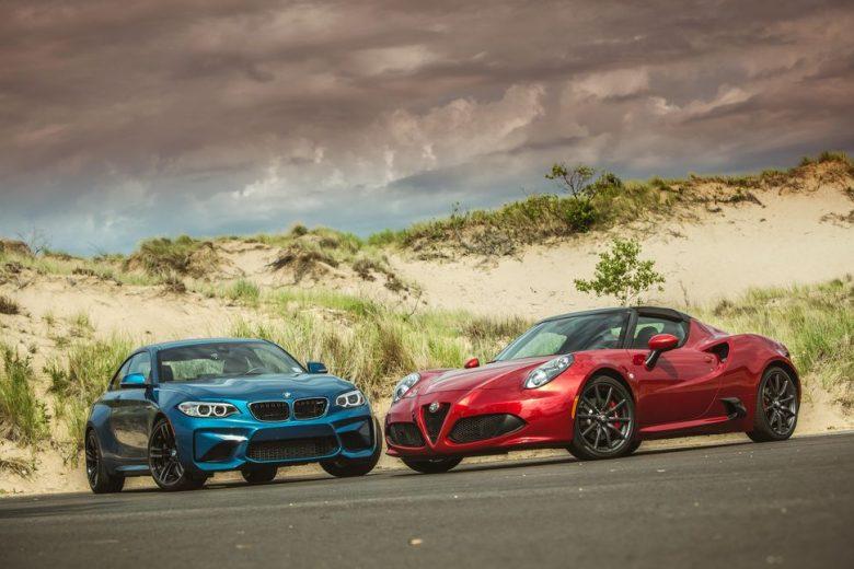 Alfa Romeo 4C Spider Takes on BMW M2 Coupe
