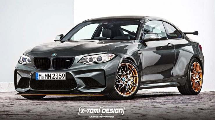 Rendering Envisions BMW M2 CS with More Potent Engine
