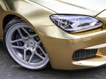 BMW M6 Sits on Vossen Wheels, Looks Smashing with the Textured Gold Wrap