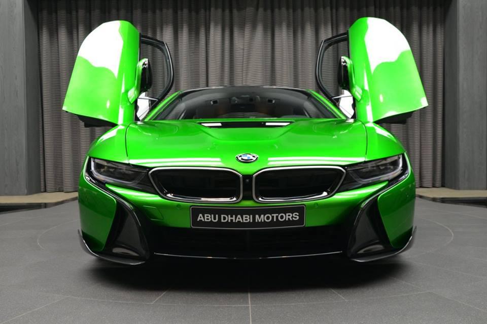 Lava Green Bmw I8 Arrives In Abu Dhabi Bmwcoop