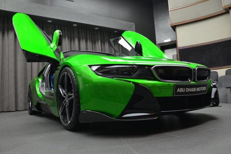 Lava Green BMW I8 Arrives In Abu Dhabi