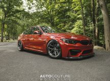 F80 BMW M3 in Sakhir Orange Looks Smashing with the Carbon Aero Kit and HRE Wheels