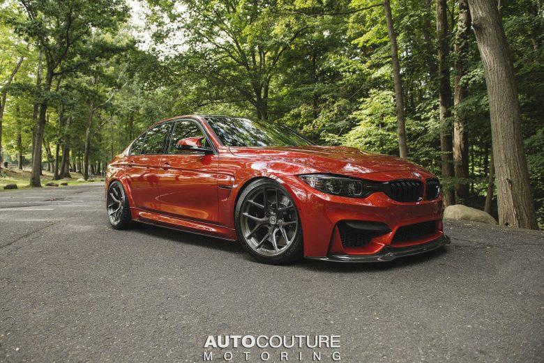 F80 BMW M3 in Sakhir Orange Looks Smashing with the Carbon Aero Kit and HRE Wheels