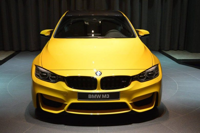Speed Yellow BMW M3 Gets Special Place at BMW Abu Dhabi