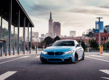 BMW M4 Adorned with Outstanding Aftermarket Parts, Looks Smashing in the Yas Marina Blue and HRE Wheels