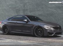 BMW M4 in Mineral Gray Metallic Wears HRE Wheels