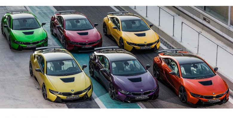 BMW i8s with Exotic Colours Get Exclusive Display in Abu Dhabi