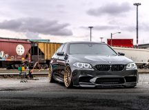 F10 BMW M5 Wrapped in Black Sapphire Metallic on ADV.1 Wheels