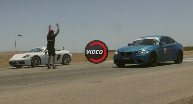 Video: BMW M2 Coupe vs. Porsche 718 Boxster S in Drag Race