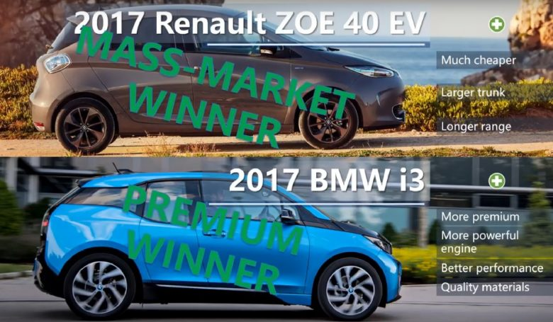 Which Is the Best Electric Car to Buy in 2017? BMW i3 vs. Chevy Bolt vs. Renault ZOE