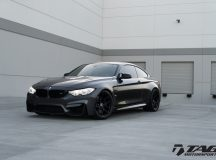 Mineral Grey BMW M4 Wrapped in HRE Wheels, Looks Ready for Photo Session