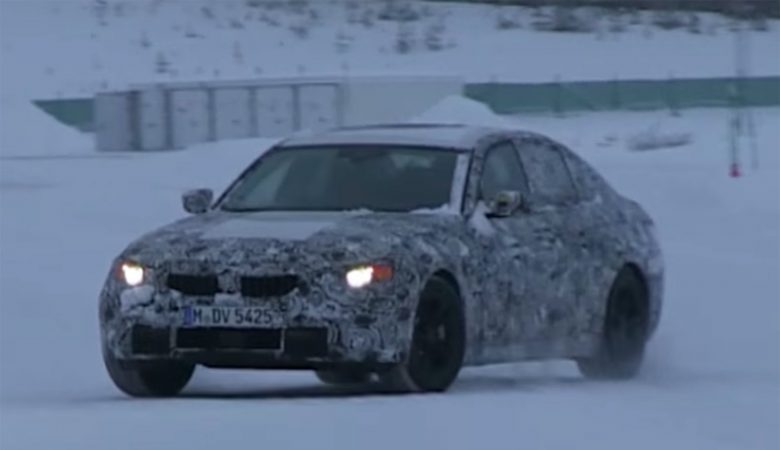 Spy Video: 2018 BMW 3-Series Shows Off in Drifting Session on the Snow