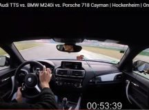 Race: BMW 240i vs Porsche 718 Cayman vs Audi TTS