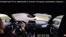 Race: BMW 240i vs Porsche 718 Cayman vs Audi TTS