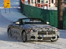 Open Top BMW Z5 Spied in New Snowy Test